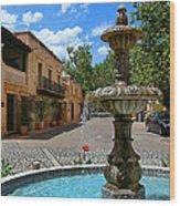 Fountain At Tlaquepaque Arts And Crafts Village Sedona Arizona Wood Print