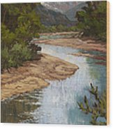 Fountain Creek Wood Print