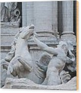 Fountain Di Trevi Wood Print