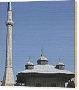 Fountain Of Ahmet IIi - Istanbul Wood Print