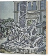 Fountain Of Bacchus Wood Print by Jeff Swanson