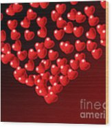 Fountain Of Love Hearts Wood Print by Kiril Stanchev