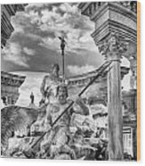 Fountain Of The Gods Wood Print