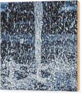 Fountain. Wood Print by Slavica Koceva
