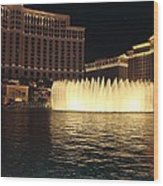 Fountain Vegas Wood Print