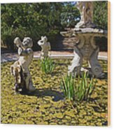 Fountain With King Neptune And Tritons Wood Print by Jose Elias - Sofia Pereira