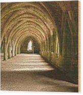 Fountain's Abbey Cellarium Wood Print