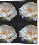Four At Home Wood Print