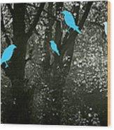Four Birds Wood Print