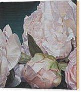 Four Blooms 45 X 80cm Wood Print