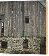 Four Broken Windows Wood Print by Joan Carroll