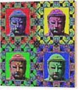 Four Buddhas 20130130 Wood Print