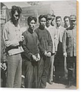 Four Chinese Who Guarded The British Wood Print