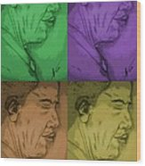 Four Colours Of Obama Wood Print