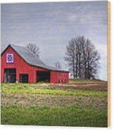Four Corners Quilt Barn Wood Print