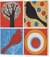 Four From Westport Wood Print