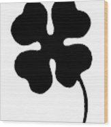 Four-leaf Clover Wood Print
