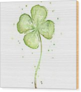 Four Leaf Clover Lucky Charm Wood Print