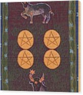 Four Of Pentacles Wood Print