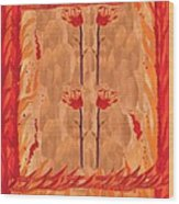 Four Of Wands Wood Print