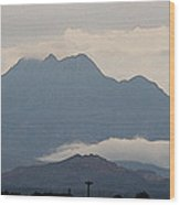 Four Peaks After A Storm Wood Print