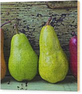 Four Pears Wood Print
