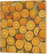 Four Persimmons Wood Print