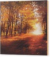 Four Seasons Autumn Impressions At Dawn Wood Print