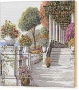 four seasons-summer on lake Como Wood Print