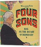 Four Sons, Us Poster Art, 1928. Tm & Wood Print