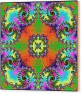 Four Square Spirals Wood Print