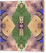 Four Towers Sigil Wood Print