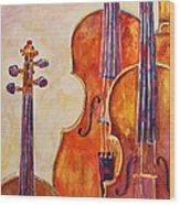 Four Violins Wood Print