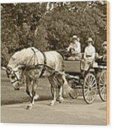 Four Wheel Cart Family Wood Print by Wayne Sheeler