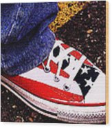 Fourth Of July Connies Wood Print