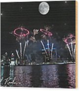 Fourth Of July Fireworks Wood Print by Michael Rucker