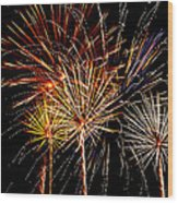 Fourth Of July Fireworks  Wood Print by Saija  Lehtonen