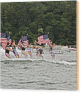 Fourth Of July On The Lake Wood Print