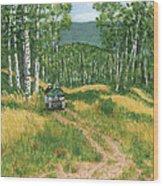 Fourwheeling In Alaska Wood Print