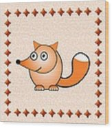 Fox - Animals - Art For Kids Wood Print