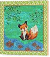 Fox-c Wood Print