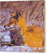 Fox Wood Print