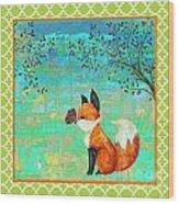 Fox-d Wood Print