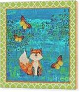 Fox-e Wood Print