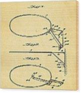 Fox Foldable Basketball Goal Patent Art 1952 Wood Print by Ian Monk