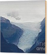 Fox Glacier On South Island Of New Zealand Wood Print