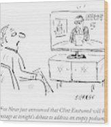 Fox News Just Announced That Clint Eastwood Wood Print