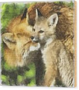 Fox One Wood Print