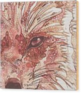 Fox Wood Print by Tamara Phillips