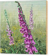 Foxglove Flower Wood Print